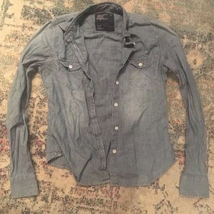 American eagle chambray blue jean jacket nwot